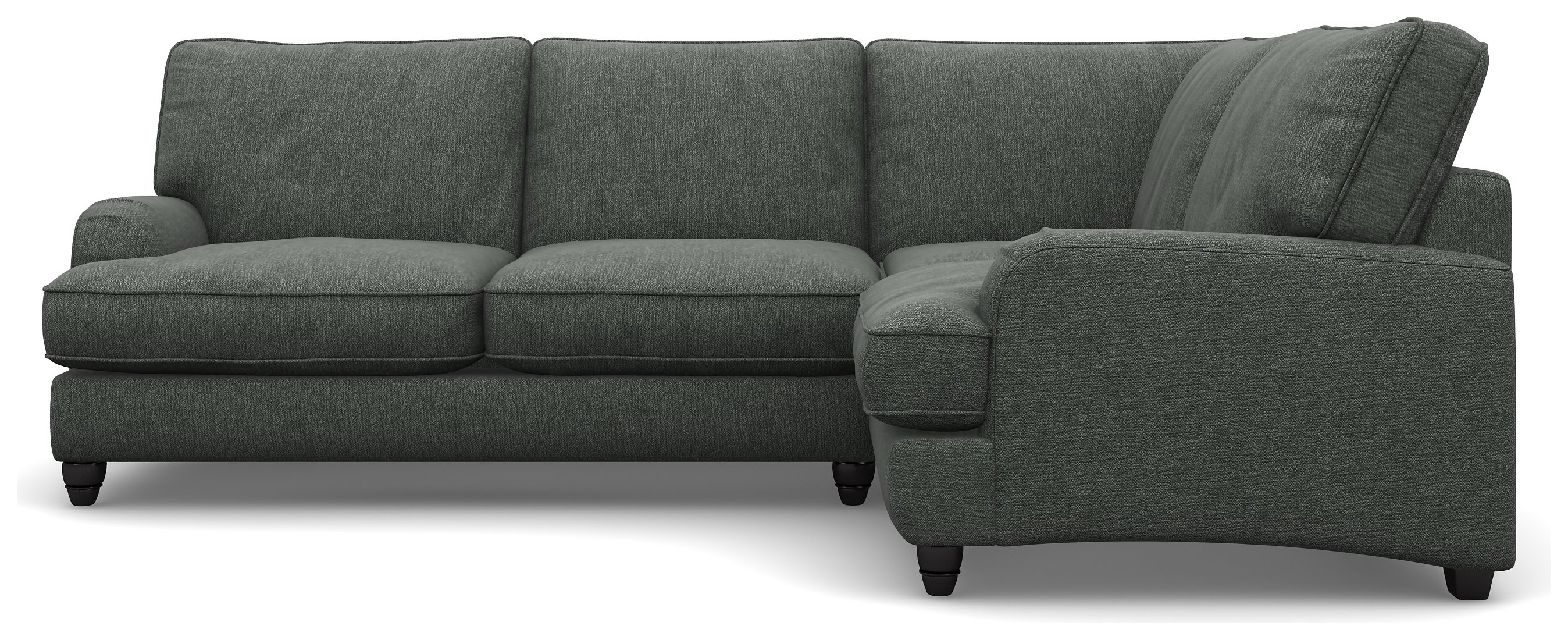 Heart of House Adeline Fabric Right Corner Sofa - Pewter.