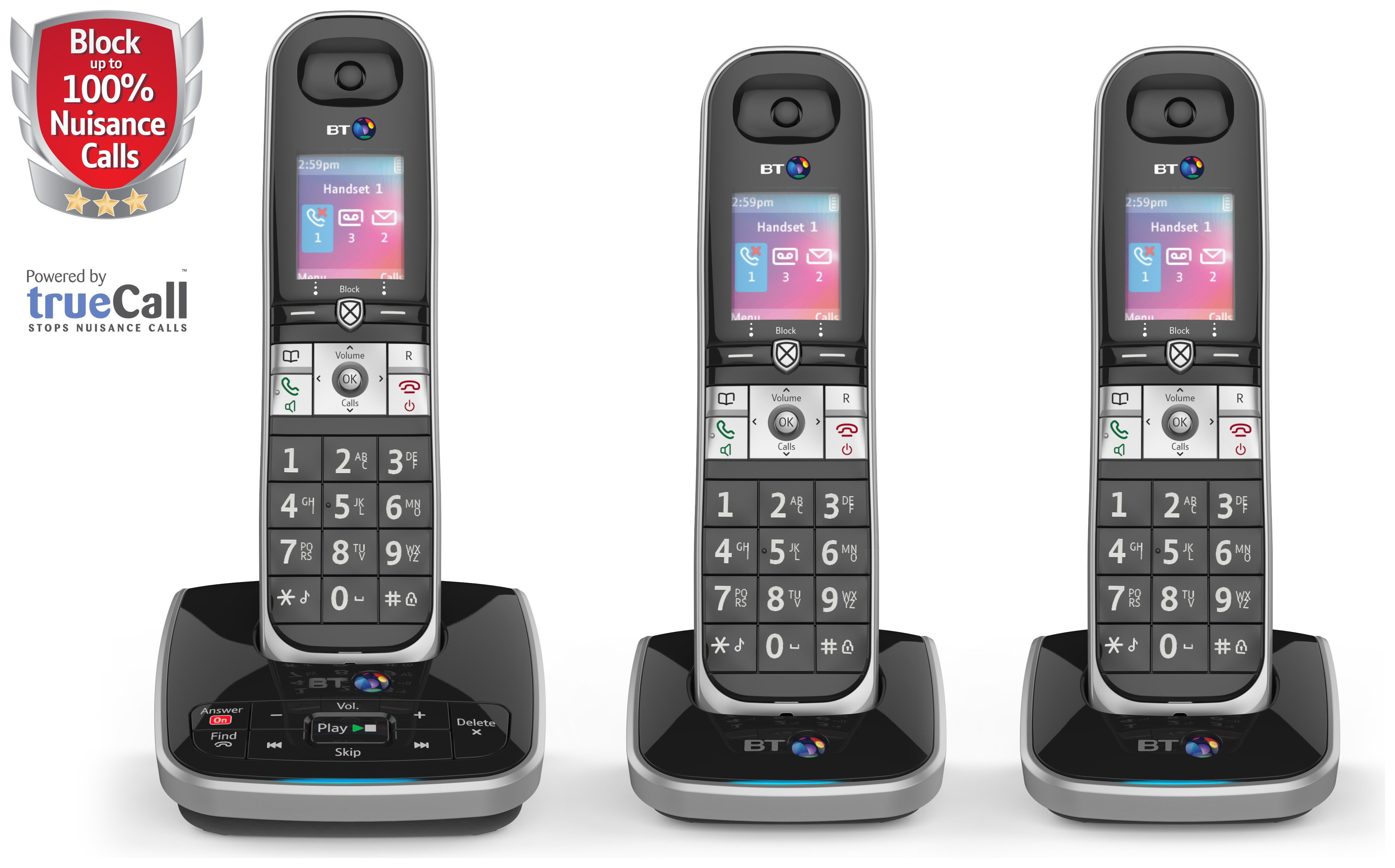 BT - 8610 - Cordless Telephone & Answer Machine - Triple