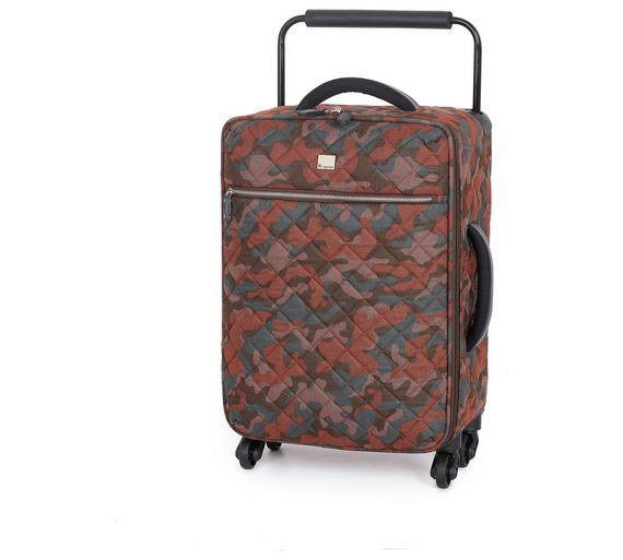 Buy IT Luggage Quilted Camo 4 Wheel Suitcase - Brown at Argos.co ...