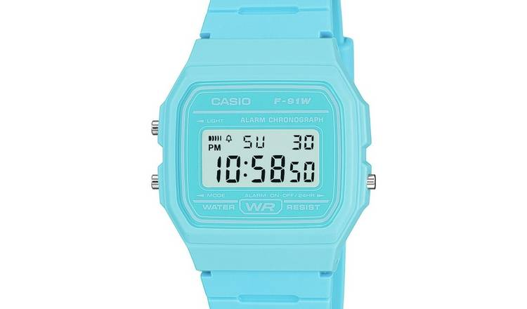 Casio Retro  Blue Resin Strap Watch