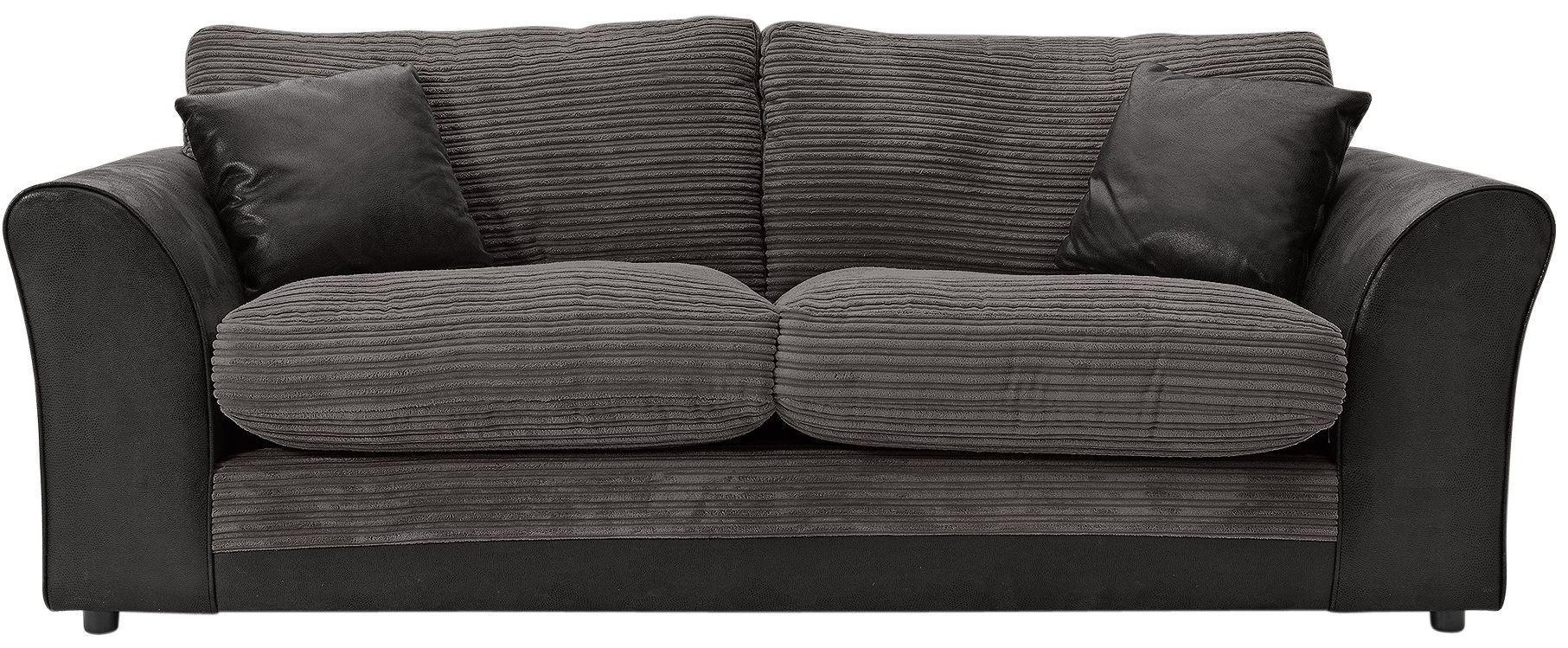 HOME - Harley 3 Seater - Fabric Sofa - Charcoal