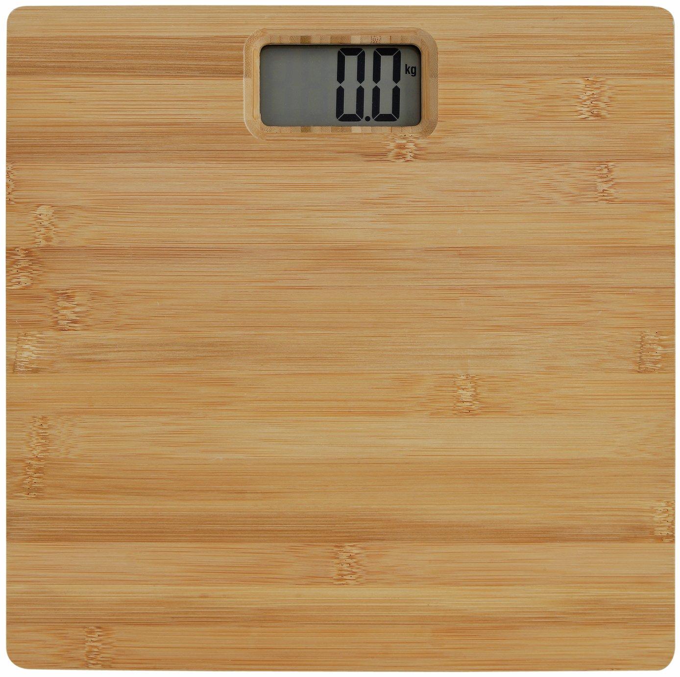 Argos Home Bamboo Digital Bathroom Scales