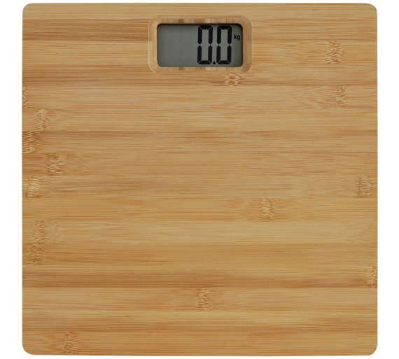 argos home bamboo digital bathroom scales - Digital Bathroom Scales