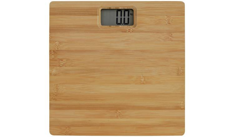 Argos Home Digital Bathroom Scales - Bamboo