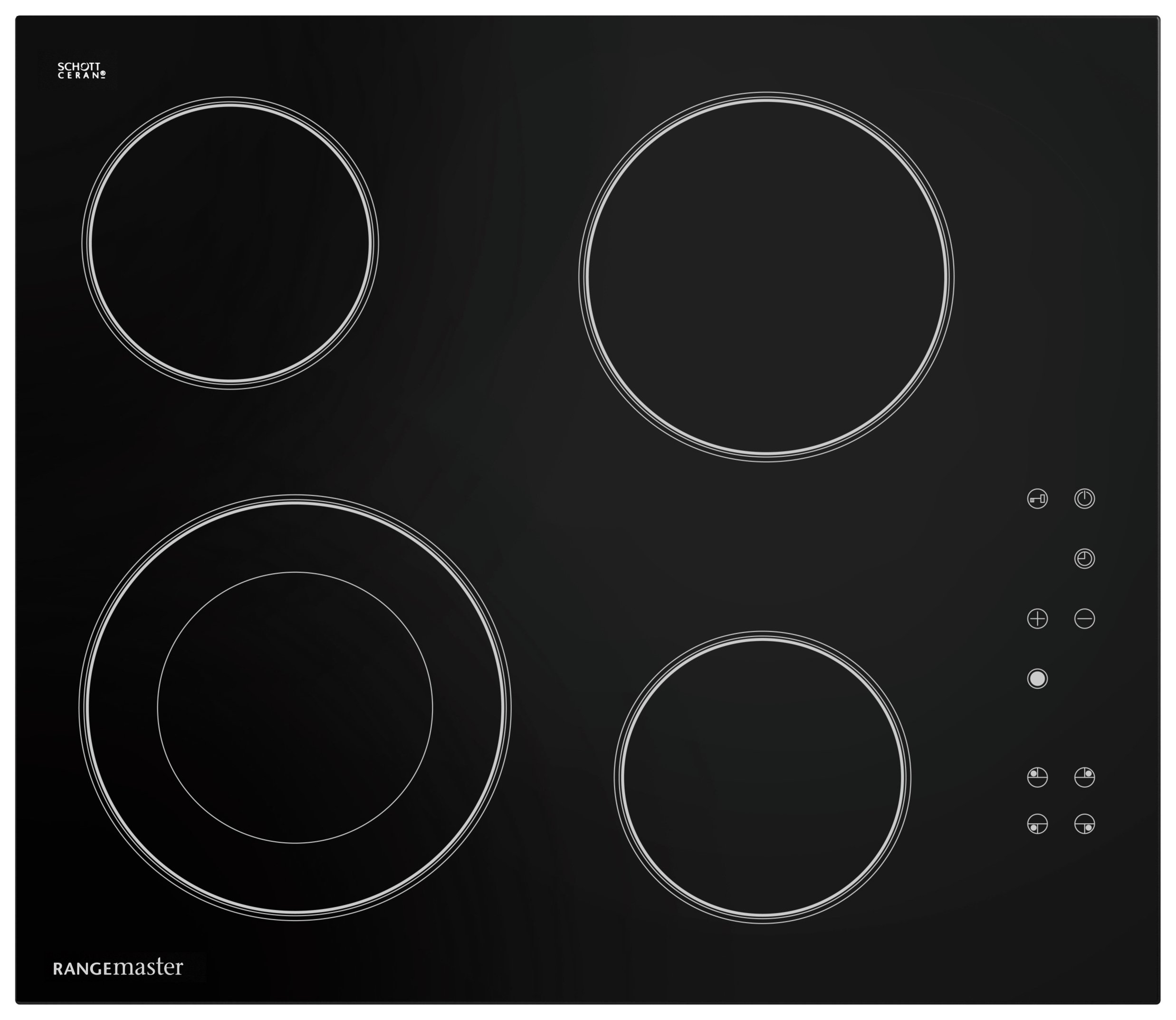 Rangemaster - 4 Zone - Ceramic Hob - Black