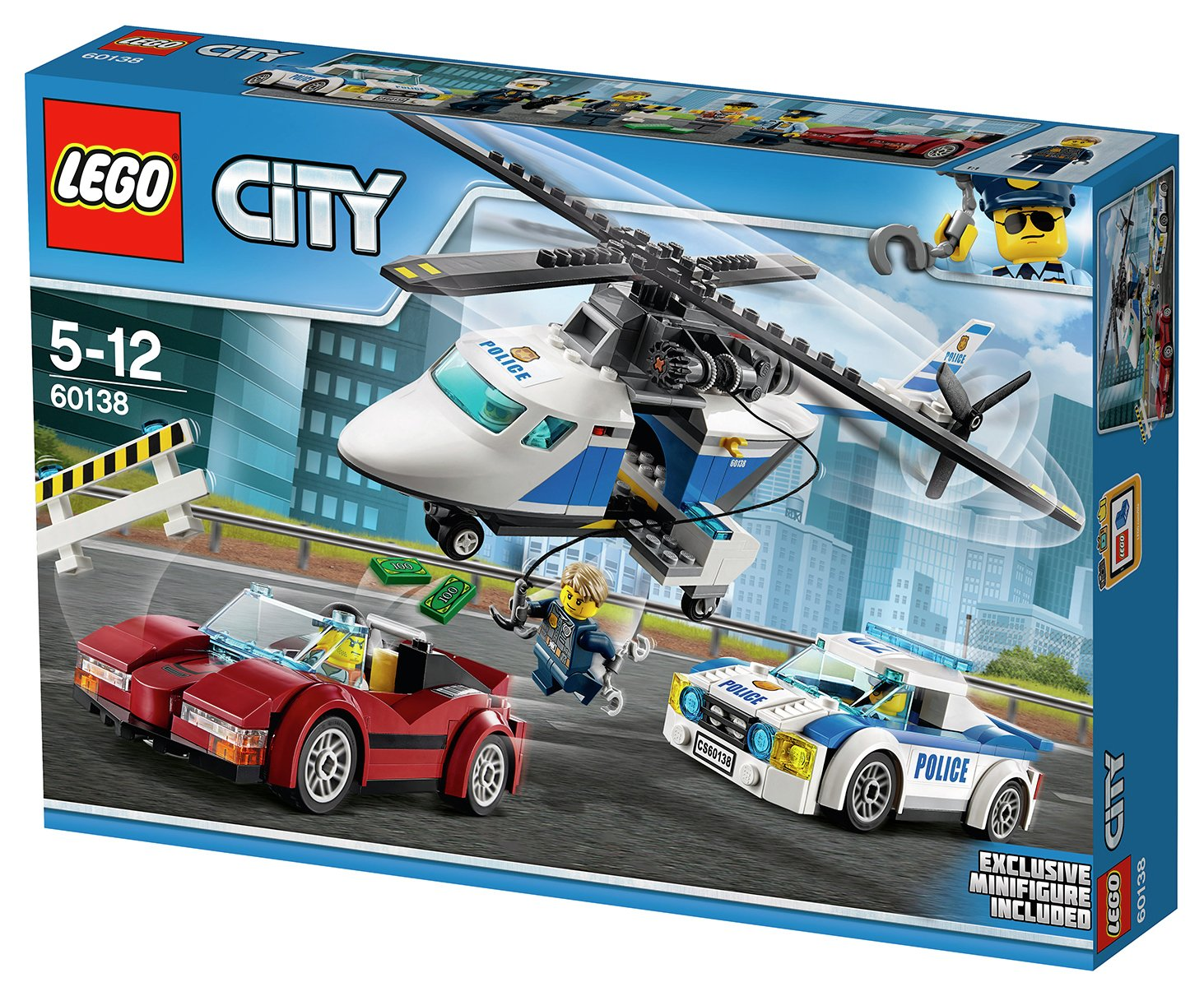 LEGO City High Speed Chase - 60138 Police Pursuit Car And Chase ...