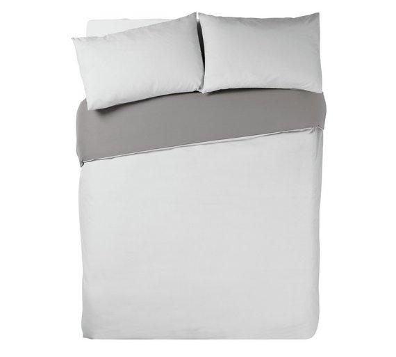 Buy Argos Home Flint Greysuper White Bedding Set Kingsize