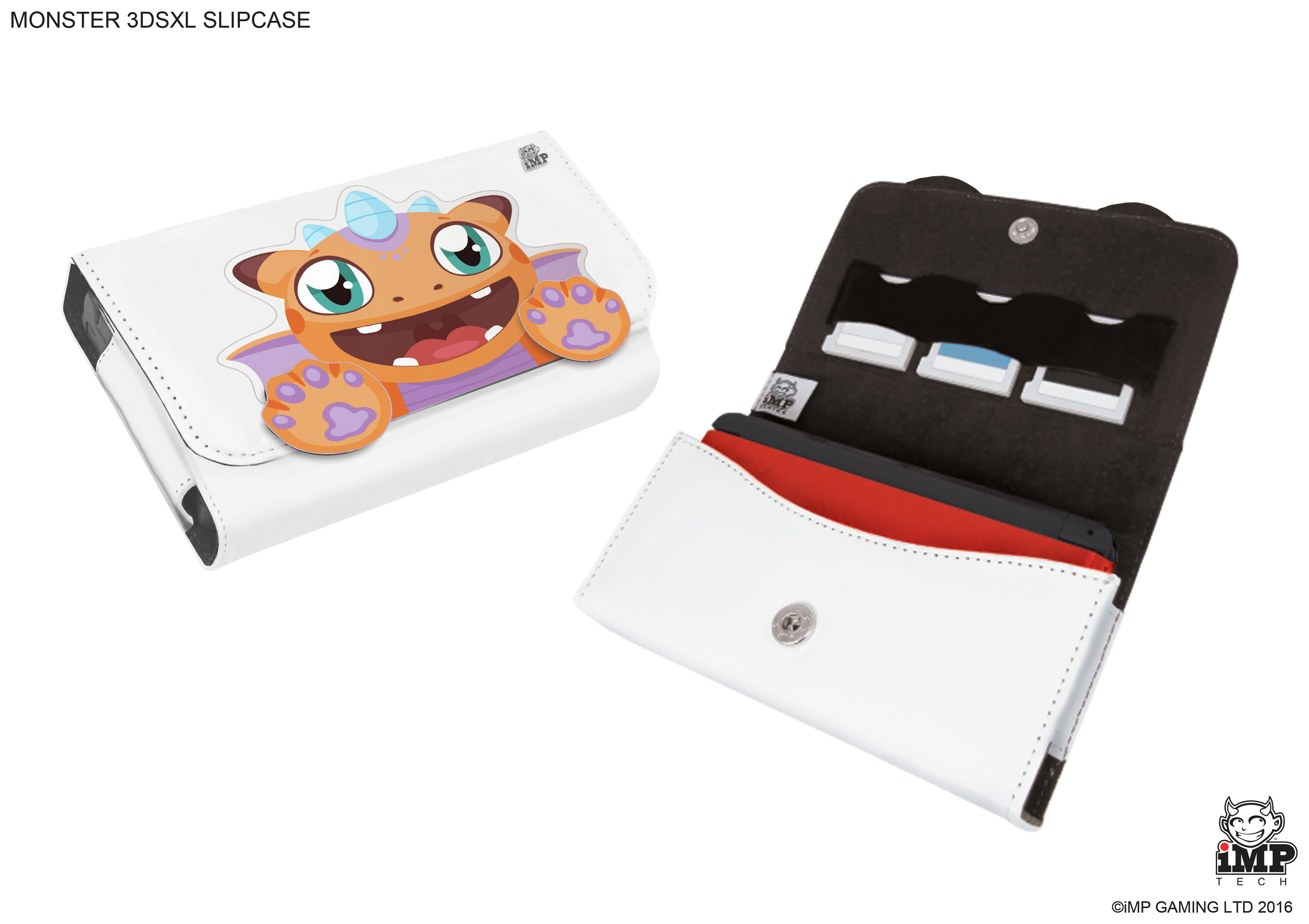 'Nintendo - 3ds Xl And 2 Game - Case - Monster