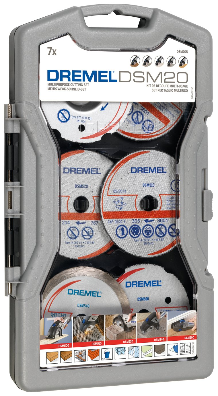 Dremel 7 Piece DSMO20 Multipurpose Cutting Set