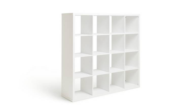 Argos Home Squares Plus 16 Cube Storage Unit - White Gloss