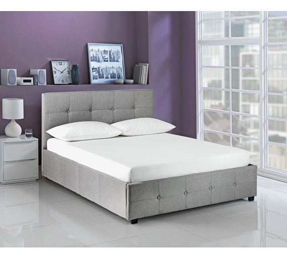 Buy Hygena Eros Ottoman Kingsize Bed Frame - Grey | Bed frames | Argos