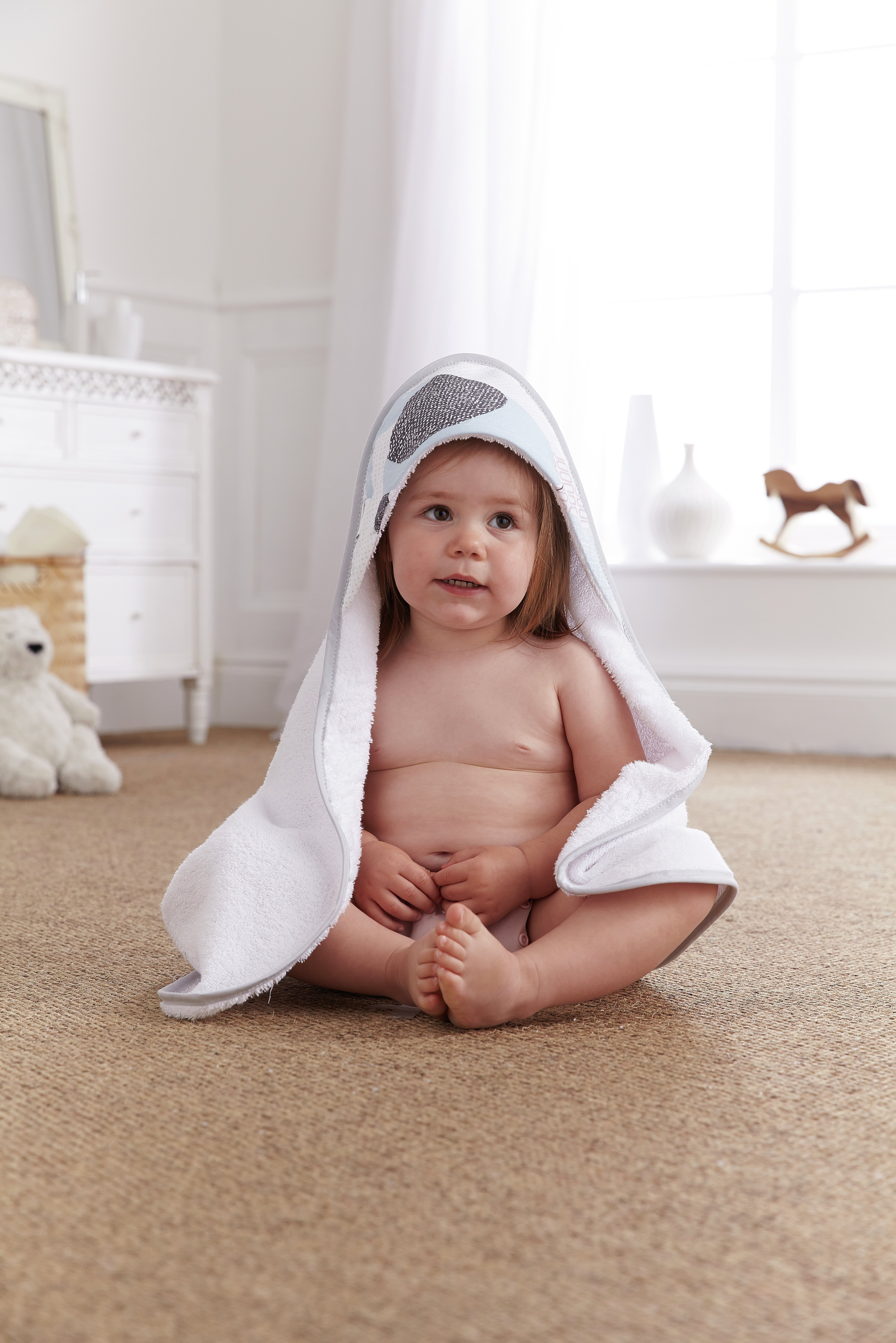 Image of Clair De Lune - Stanley & Pip Baby Hooded Towel