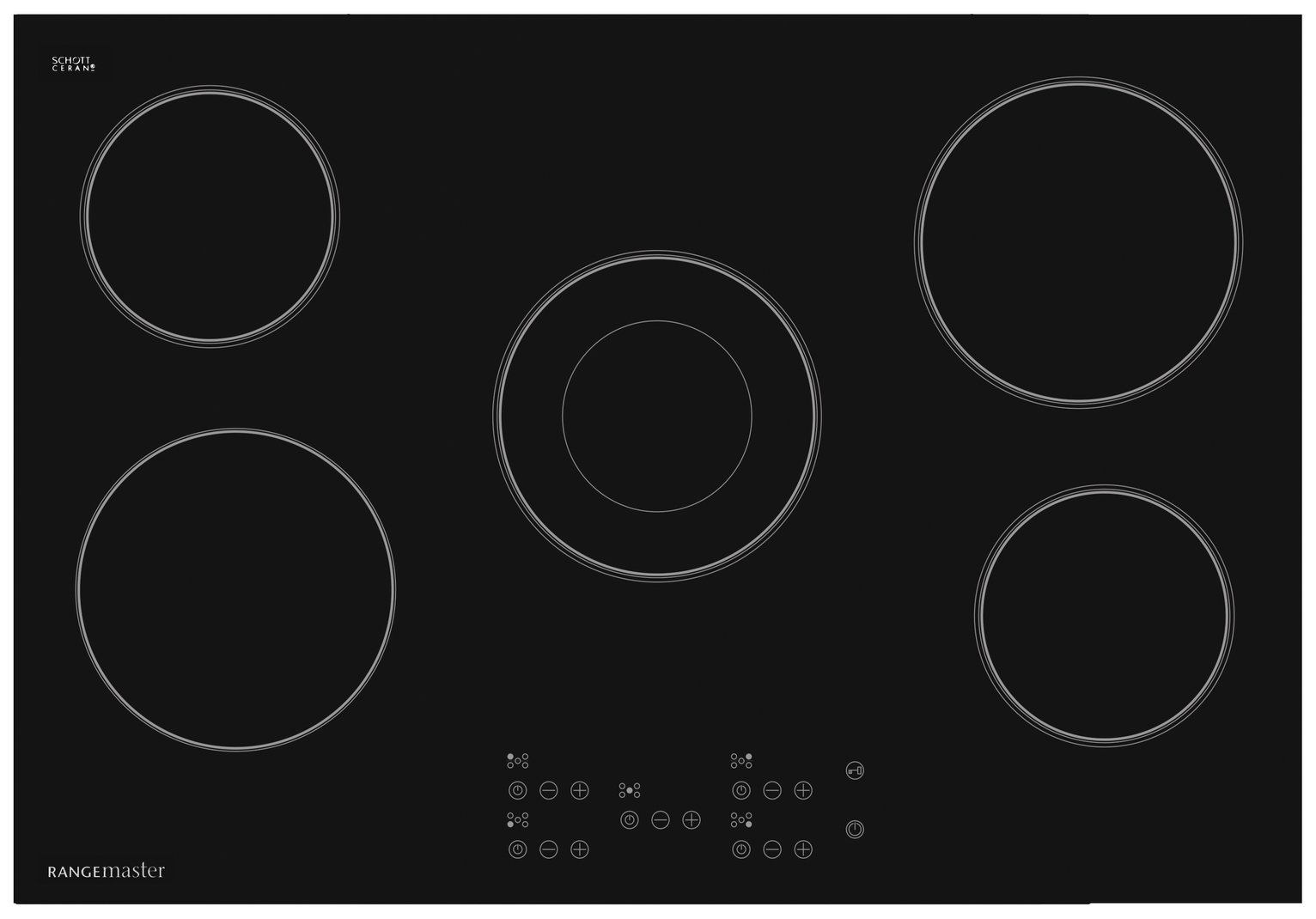 Rangemaster - 5 Zone - Ceramic Hob - Black