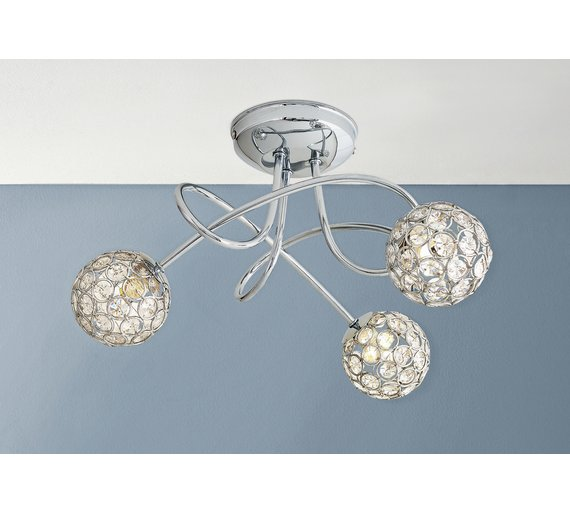 Buy Collection Amelia 3 Light Beaded Globes Ceiling Light