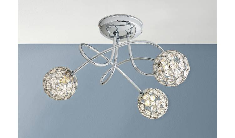 Buy Argos Home Amelia 3 Light Beaded Globes Ceiling Light Ceiling Lights Argos