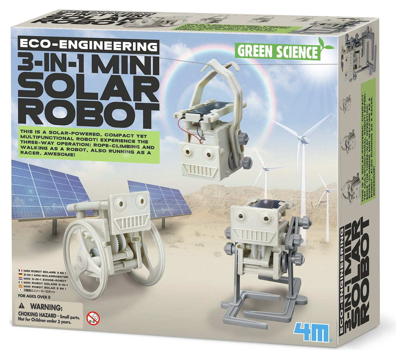 Image of 4M Eco Engineering 3 in 1 Mini Solar Robot