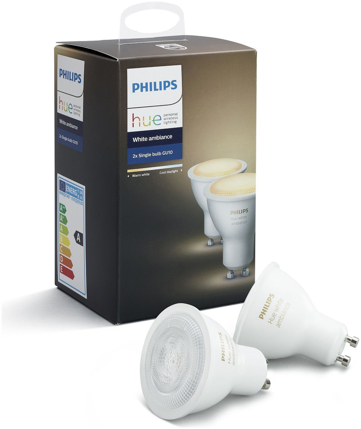 Philips Philips Hue White Ambiance GU10 Spot Lights - Double Pack.