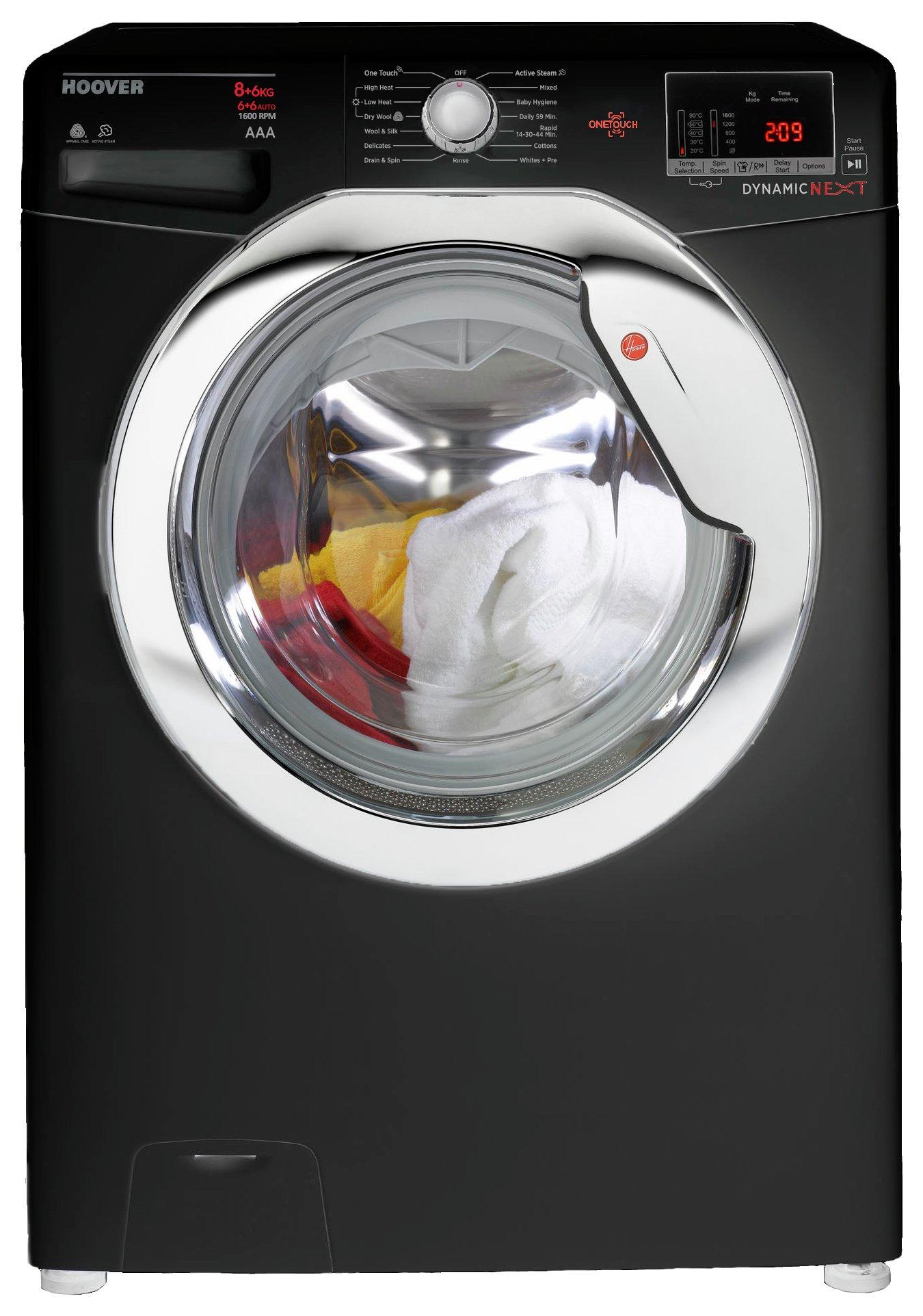 Hoover WDXOC686CB Washer Dryer - Black.