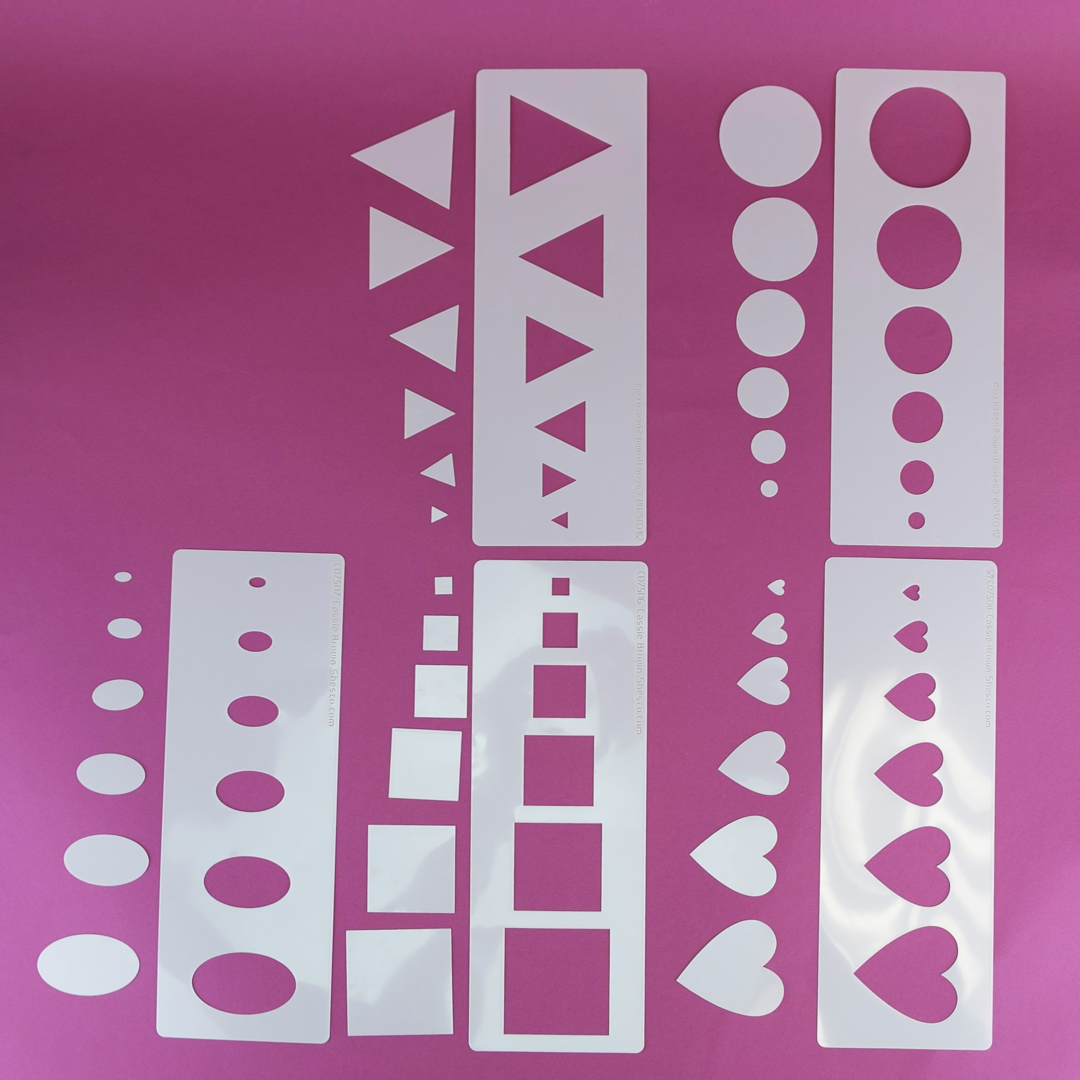 Image of Cassie Brown - Shaped Food Stencils