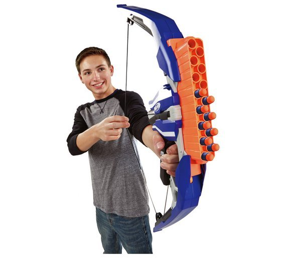 Nerf N Strike Stratobow Bow Blasting Through The Air Up To