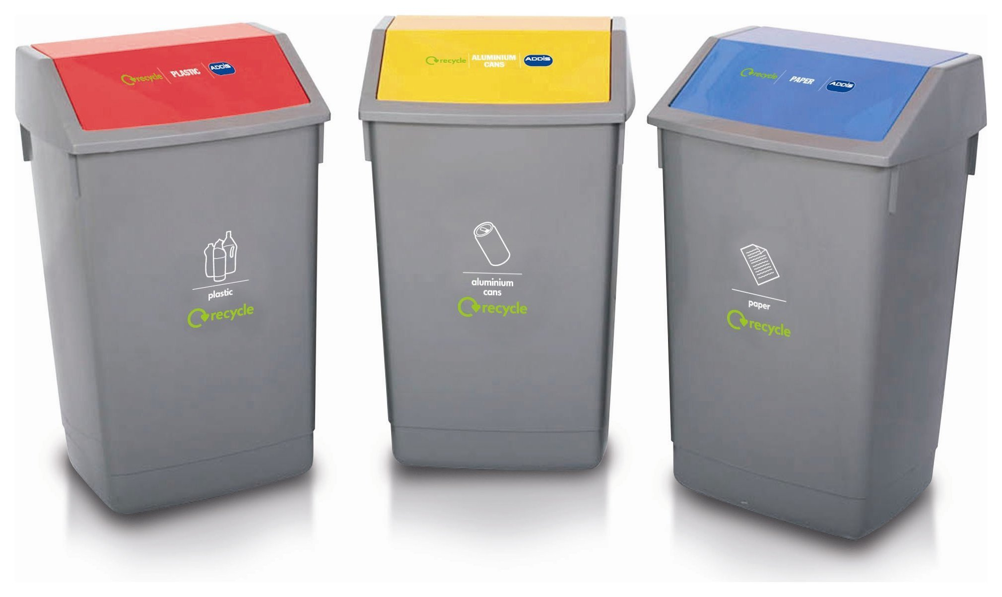 Image of Addis - 60 Litre 3 Piece Recycling Bin Kit