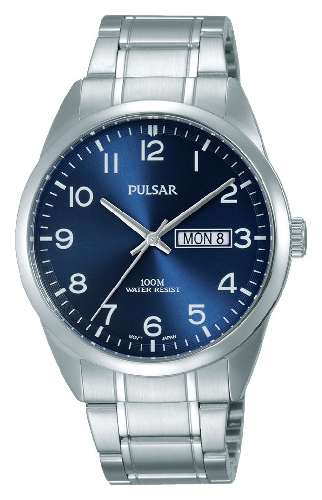 Pulsar Men's Silver Stainless Steel Bracelet Watch