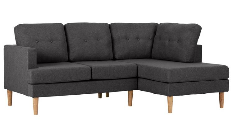 Habitat Joshua Right Corner Fabric Sofa - Charcoal