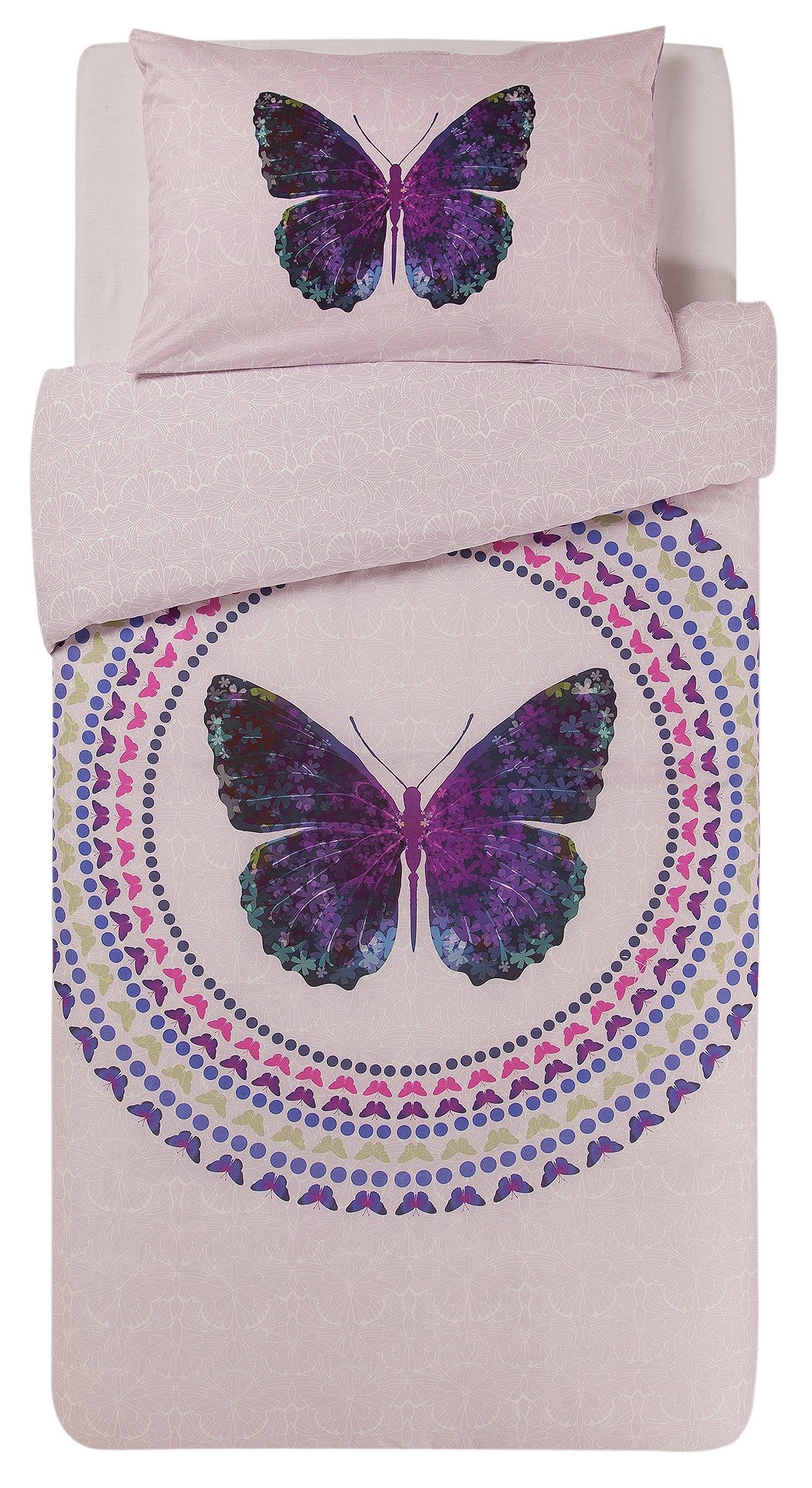 collection digital butterfly print bedding set  single