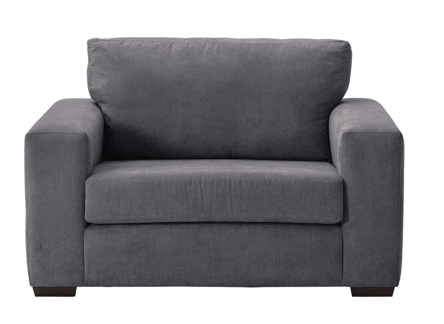 Argos Home Eton Fabric Cuddle Chair - Charcoal