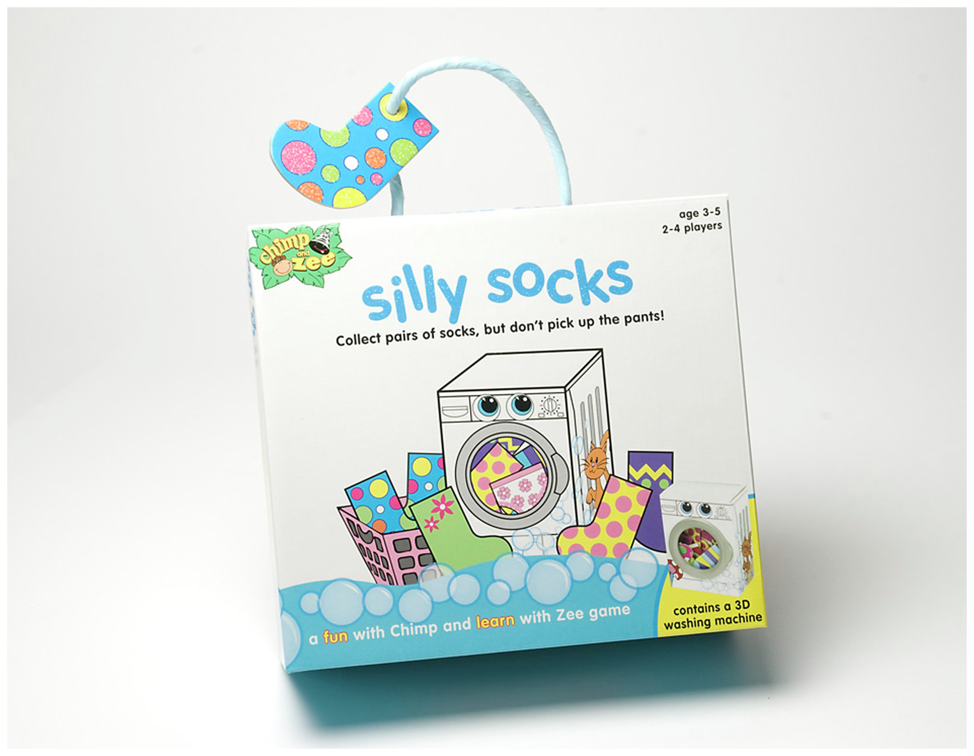 Image of Chimp and Zee Silly Socks Game.
