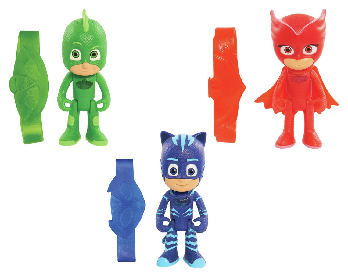 PJ Masks 3 Inch Glow Figures with Wrist Band Assortment.