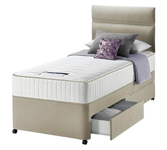 Silentnight Bingley 800 Pocket 2 Drawer Divan Single Review: argos single divan beds