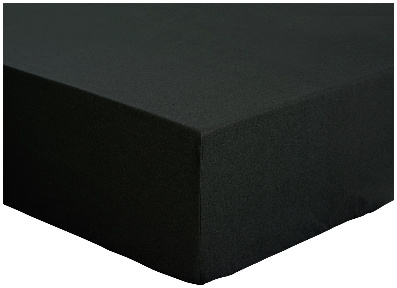 colourmatch jet black fitted sheet  kingsize