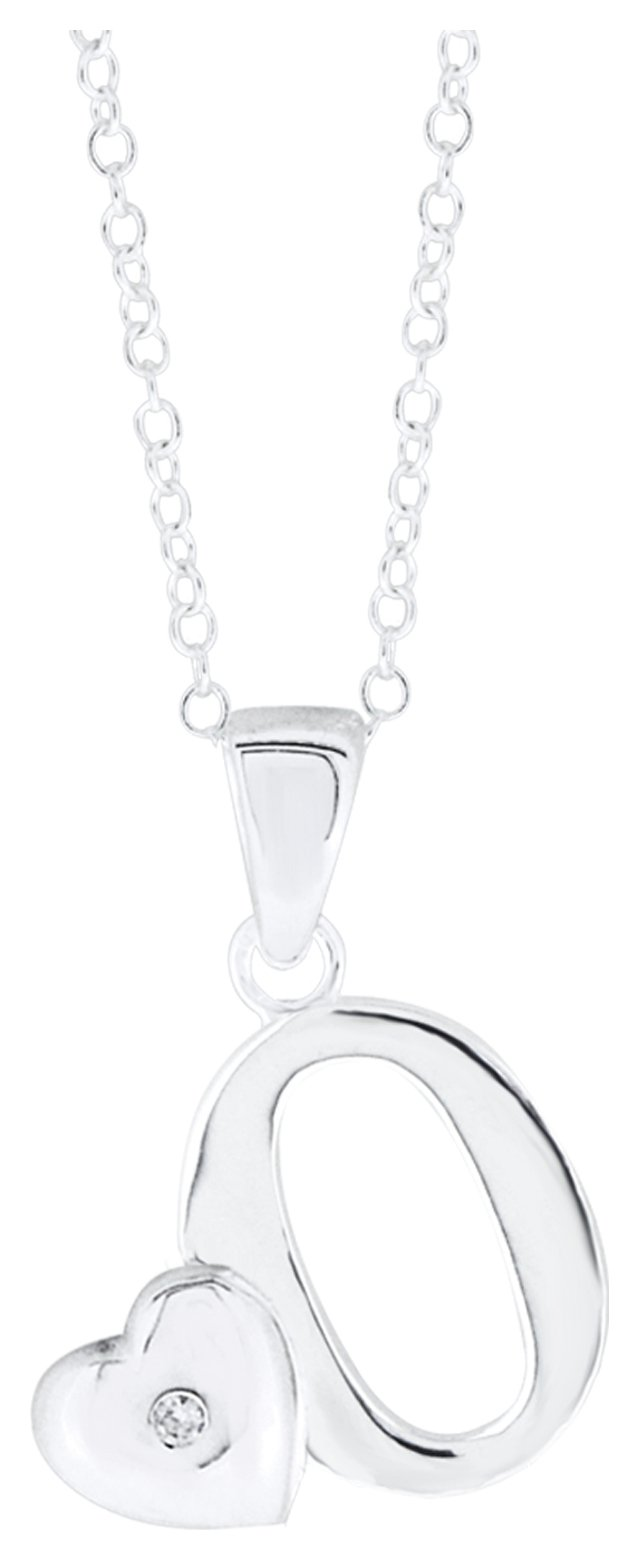 Image of Little Star Sterling Silver Initial Pendant - O