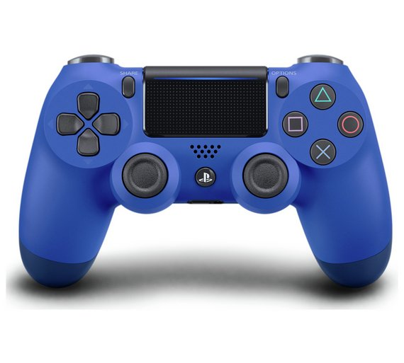 Buy PS4 DualShock 4 V2 Wireless Controller - Wave Blue at ...