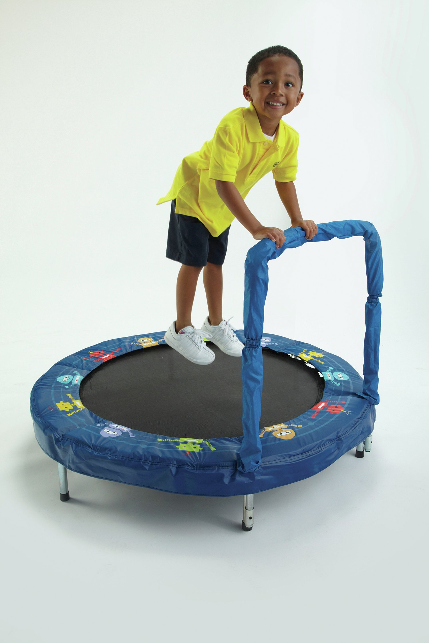 jumpking 48 inch junior trampoline  robot bouncer.