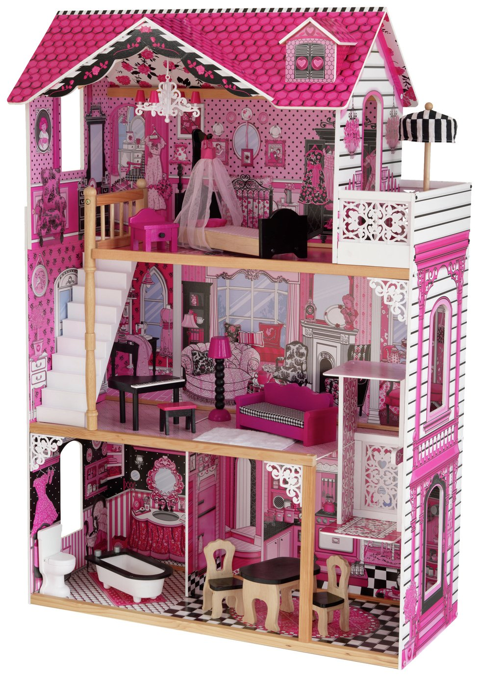 amelia  dolls house  plus 14 pieces of furniture