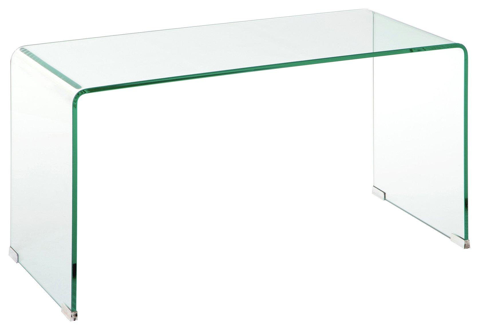 Premier Housewares Matrix Clear Glass Coffee Table
