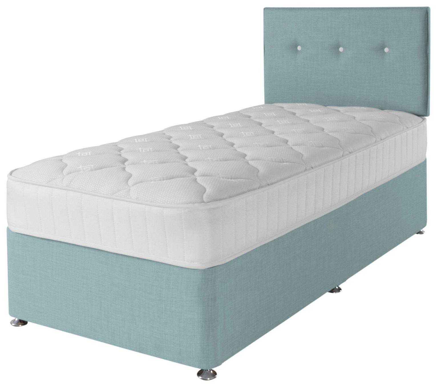 Airsprung Dalham 800 Pocket Memory Blue Divan Bed - Single