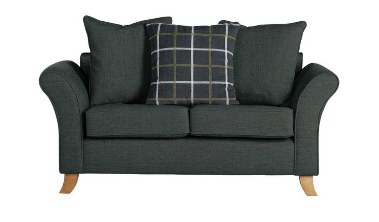 Argos Home Kayla 2 Seater Scatter Back Fabric Sofa -Charcoal