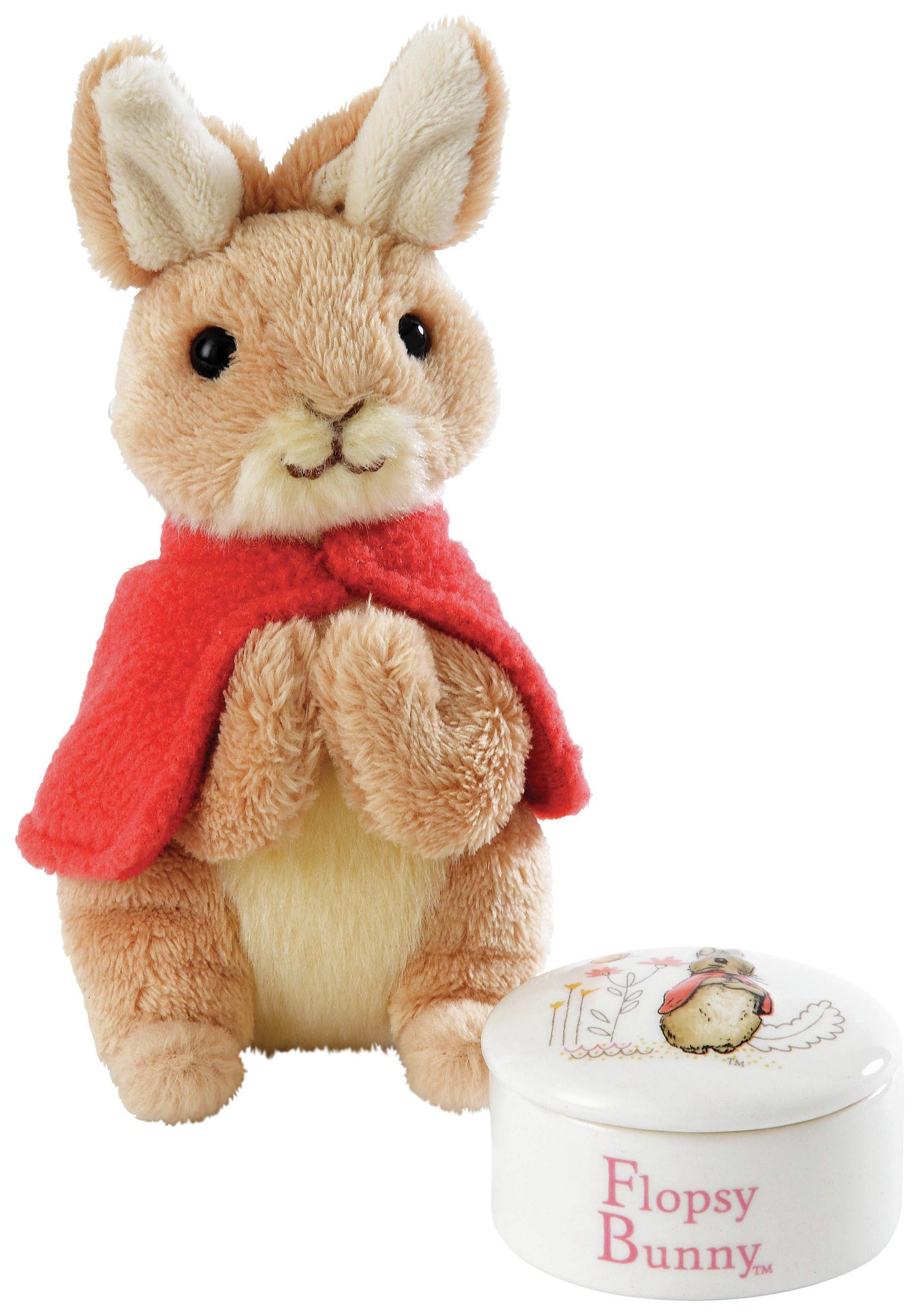 Flopsy Trinket Box and Soft Toy Gift Set