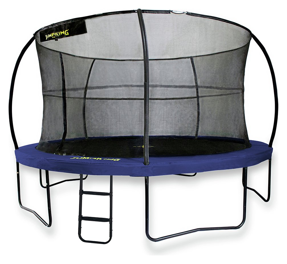 Jumpking 14ft Jumppod Deluxe Trampoline With Enclosure: 10ft JumpPOD Deluxe