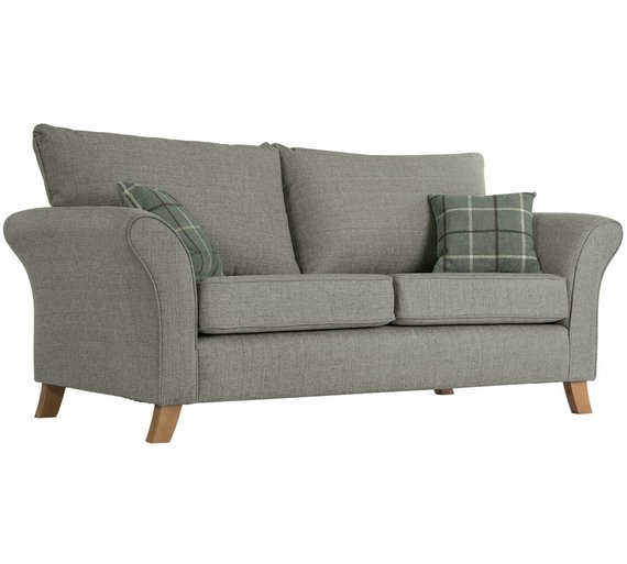 Buy Collection Kayla Seater High Back Fabric Sofa Grey At - High sofa