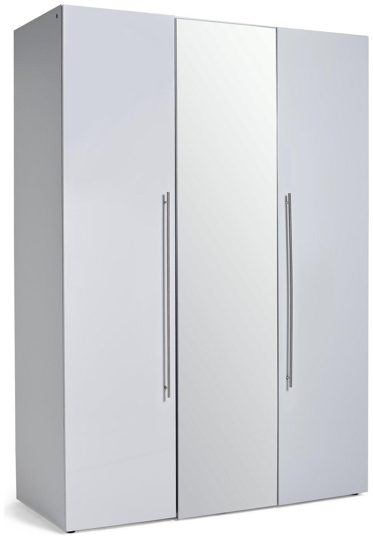 Argos Home Atlas 3 Door Mirrored Gloss Wardrobe - White