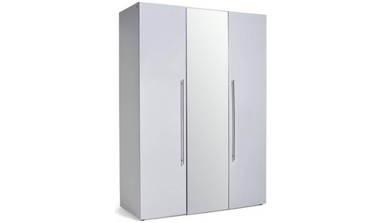 official photos ae7e8 44985 Buy Argos Home Atlas 3 Door Mirrored Gloss Wardrobe - White | Wardrobes |  Argos