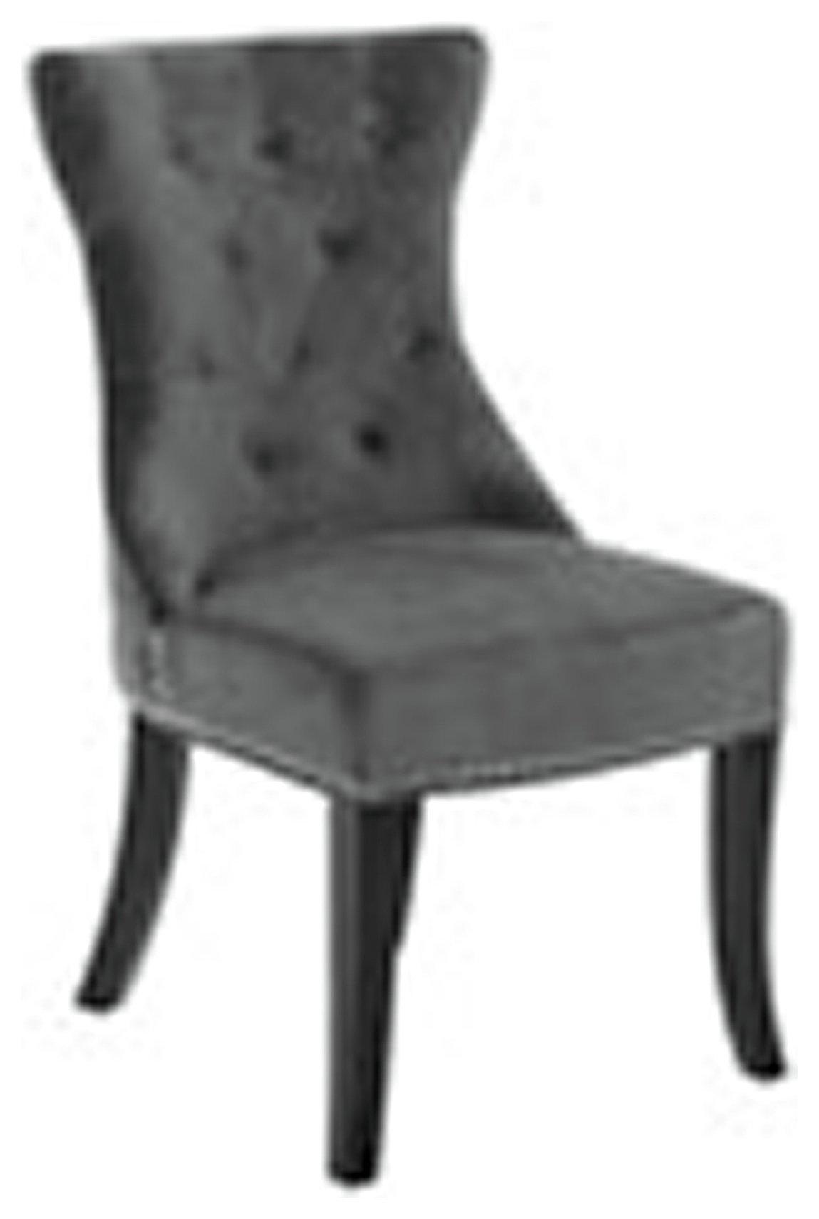 Premier Housewares Regents Park Dining Chair - Grey