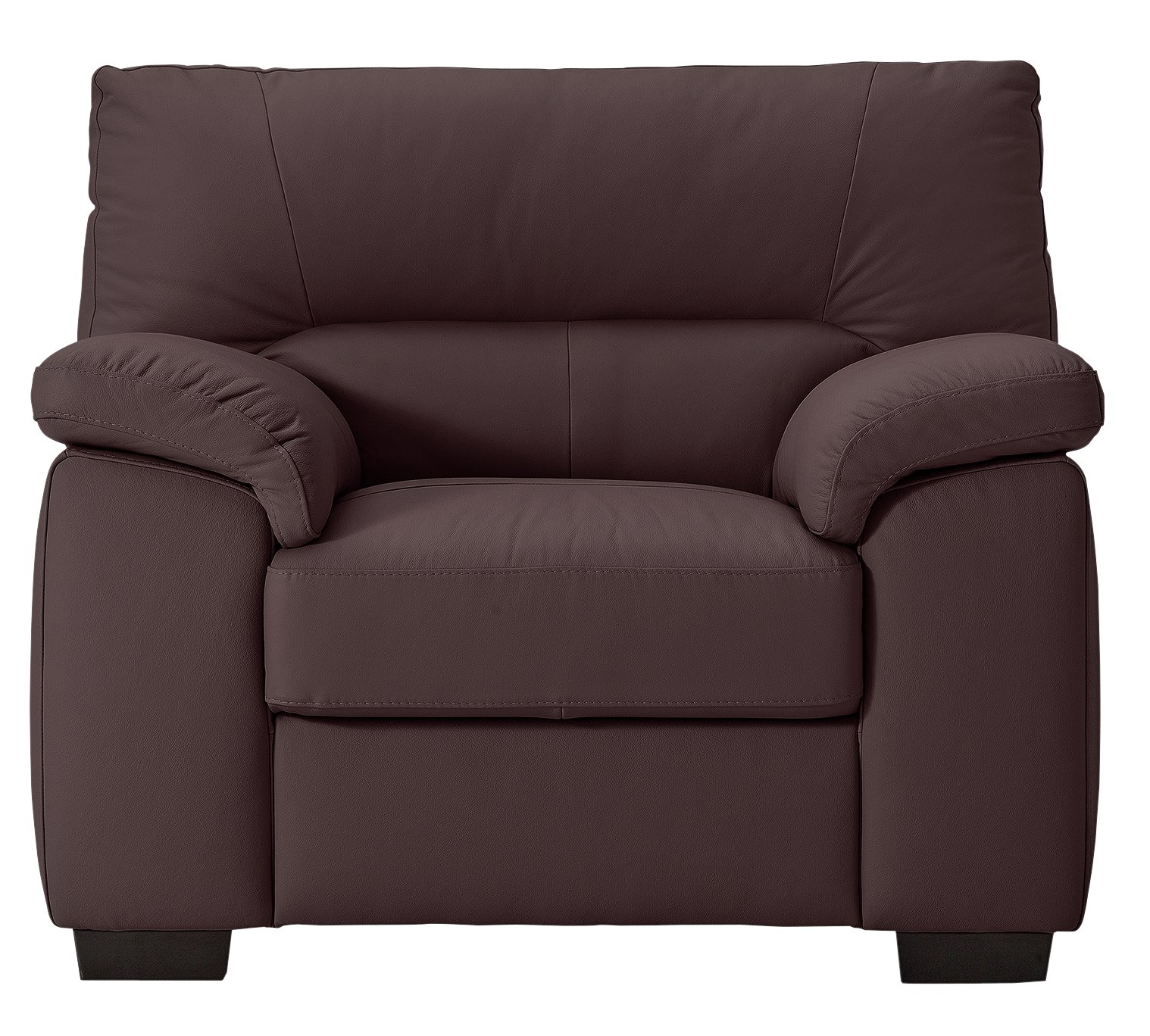 Argos Home Piacenza Leather Armchair - Walnut
