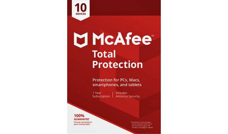 Buy McAfee Total Protection - 10 Devices | Laptop and PC software | Argos