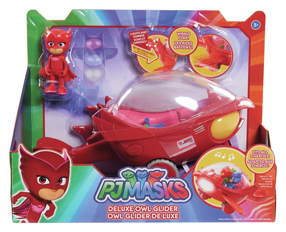 PJ Masks Deluxe Owlette Vehicle with 7.5cm Figure