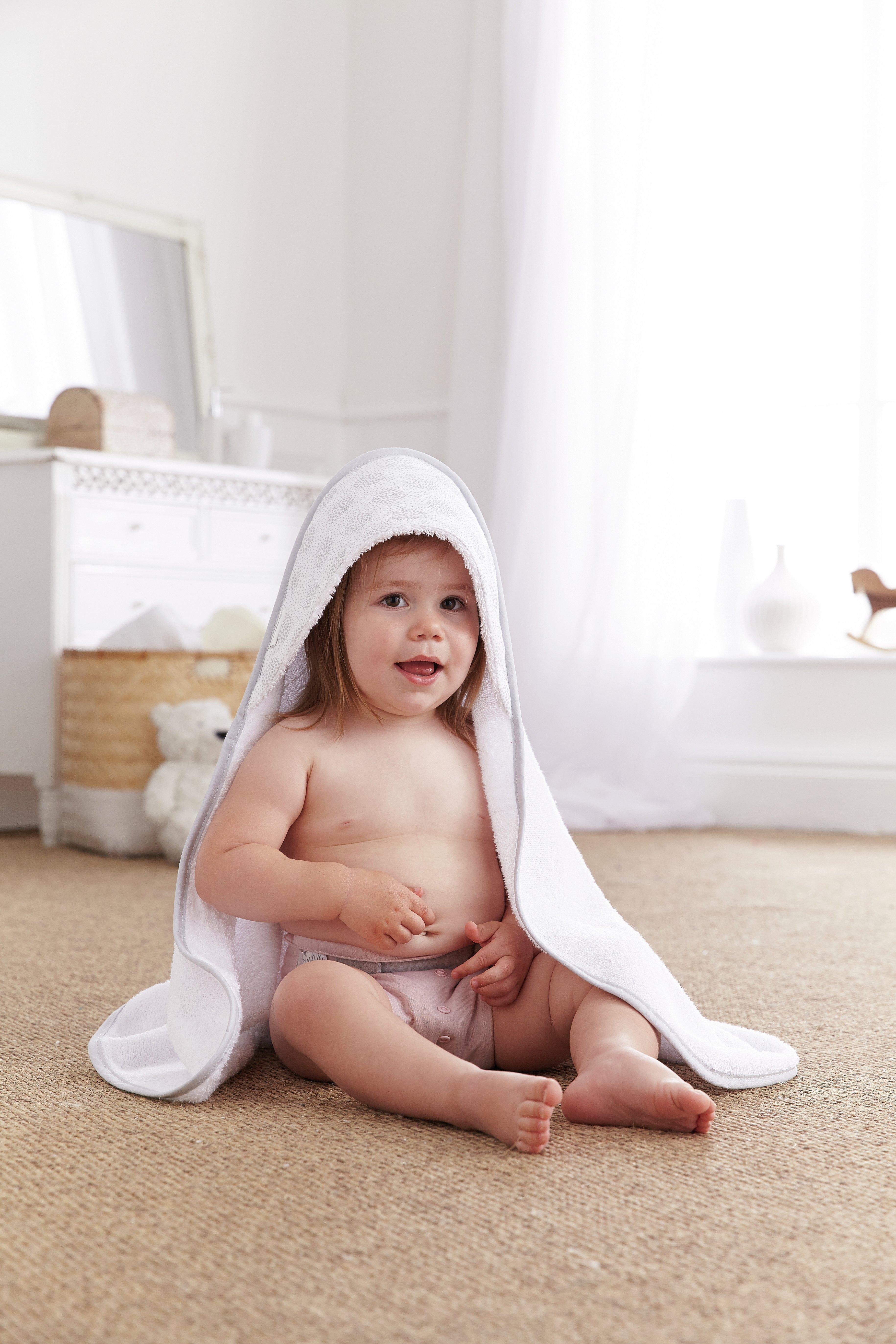 Image of Clair De Lune - Speckles Hooded Baby Towel - Grey